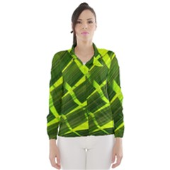 Frond Leaves Tropical Nature Plant Wind Breaker (women)