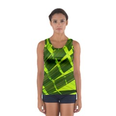 Frond Leaves Tropical Nature Plant Women s Sport Tank Top