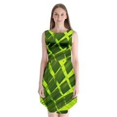 Frond Leaves Tropical Nature Plant Sleeveless Chiffon Dress