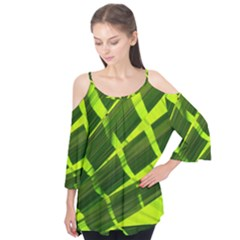 Frond Leaves Tropical Nature Plant Flutter Tees