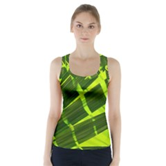 Frond Leaves Tropical Nature Plant Racer Back Sports Top