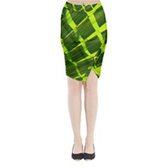 Frond Leaves Tropical Nature Plant Midi Wrap Pencil Skirt