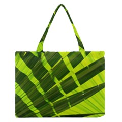 Frond Leaves Tropical Nature Plant Medium Zipper Tote Bag