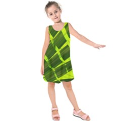 Frond Leaves Tropical Nature Plant Kids  Sleeveless Dress