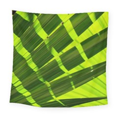 Frond Leaves Tropical Nature Plant Square Tapestry (large)