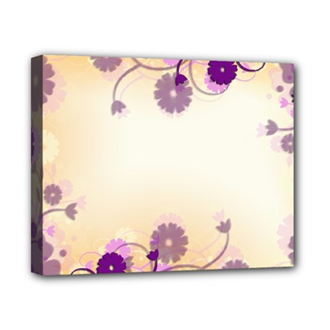Floral Background Canvas 10  X 8
