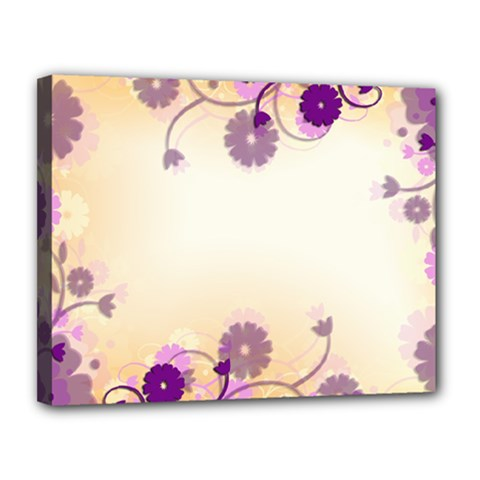 Floral Background Canvas 14  X 11