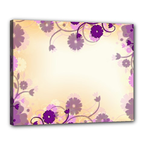 Floral Background Canvas 20  X 16