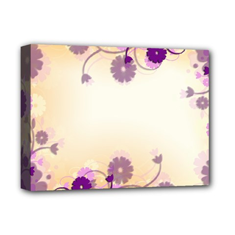 Floral Background Deluxe Canvas 16  X 12
