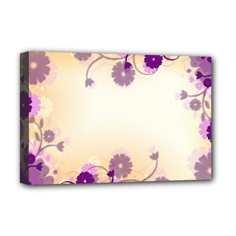 Floral Background Deluxe Canvas 18  X 12