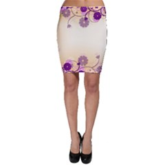 Floral Background Bodycon Skirt