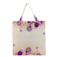 Floral Background Grocery Tote Bag