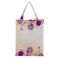 Floral Background Classic Tote Bag