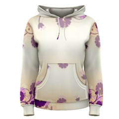Floral Background Women s Pullover Hoodie