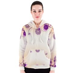 Floral Background Women s Zipper Hoodie