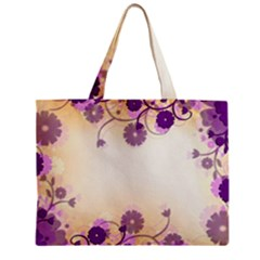 Floral Background Zipper Mini Tote Bag