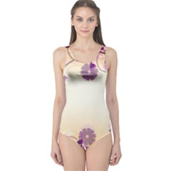 Floral Background One Piece Swimsuit