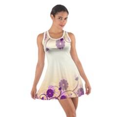 Floral Background Cotton Racerback Dress
