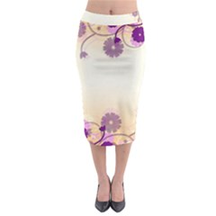 Floral Background Midi Pencil Skirt