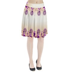 Floral Background Pleated Skirt