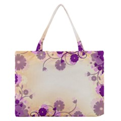 Floral Background Medium Zipper Tote Bag