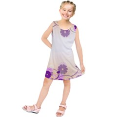 Floral Background Kids  Tunic Dress
