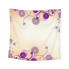 Floral Background Square Tapestry (small)