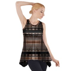 Fractal Art Design Geometry Side Drop Tank Tunic