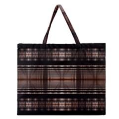 Fractal Art Design Geometry Zipper Large Tote Bag