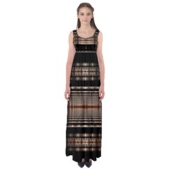 Fractal Art Design Geometry Empire Waist Maxi Dress