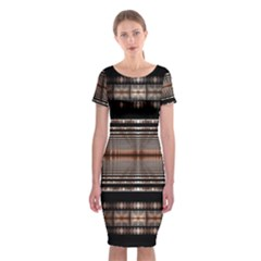 Fractal Art Design Geometry Classic Short Sleeve Midi Dress