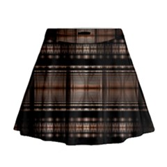 Fractal Art Design Geometry Mini Flare Skirt