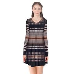 Fractal Art Design Geometry Flare Dress