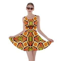 Geometry Shape Retro Trendy Symbol Skater Dress