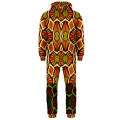 Geometry Shape Retro Trendy Symbol Hooded Jumpsuit (men)