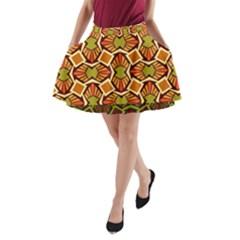 Geometry Shape Retro Trendy Symbol A Line Pocket Skirt
