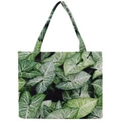 Green Leaves Nature Pattern Plant Mini Tote Bag