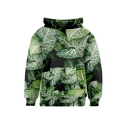 Green Leaves Nature Pattern Plant Kids  Pullover Hoodie