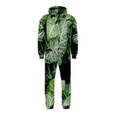 Green Leaves Nature Pattern Plant Hooded Jumpsuit (kids)