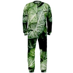 Green Leaves Nature Pattern Plant Onepiece Jumpsuit (men)