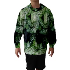 Green Leaves Nature Pattern Plant Hooded Wind Breaker (kids)