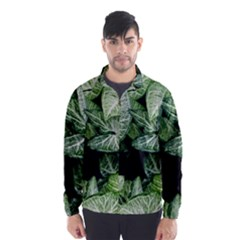 Green Leaves Nature Pattern Plant Wind Breaker (men)