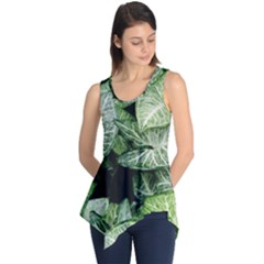Green Leaves Nature Pattern Plant Sleeveless Tunic