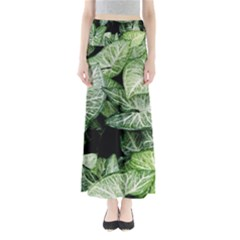 Green Leaves Nature Pattern Plant Maxi Skirts