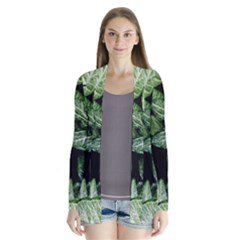 Green Leaves Nature Pattern Plant Cardigans