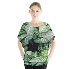 Green Leaves Nature Pattern Plant Blouse