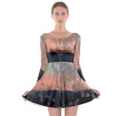 Hardest Frost Winter Cold Frozen Long Sleeve Skater Dress