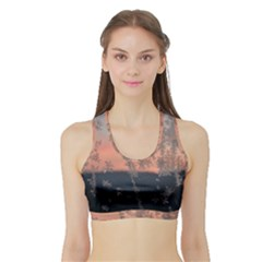 Hardest Frost Winter Cold Frozen Sports Bra With Border