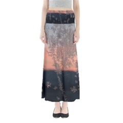 Hardest Frost Winter Cold Frozen Maxi Skirts