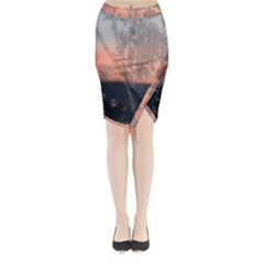 Hardest Frost Winter Cold Frozen Midi Wrap Pencil Skirt